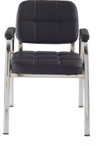 Da URBAN Weston Black Leatherette Office Visitor Chair