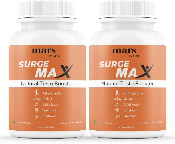 mars by GHC Ayurvedic Testosterone Booster Supplement | Shilajit & Gokshura Capsules for Stamina & Strength