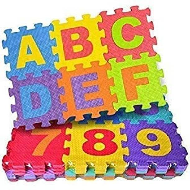 AMIGOS STORE Puzzle Foam Mat for Kids Interlocking Learning Educational Alphabet And Numbers Floor Mat for Baby Kids Playing (36 Pieces)
