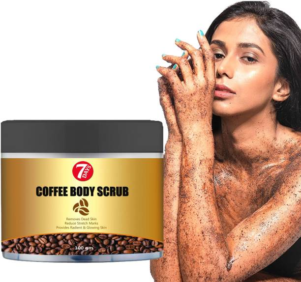 7 Days Coffee Face Scrub for Deep Exfoliation, Tan Removal & Blackheads Scrub All Natural Body Scrub for Skin Care, Stretch Marks, Acne & Cellulite, Reduce the Look of Spider Veins, Eczema, Age Spots Scrub