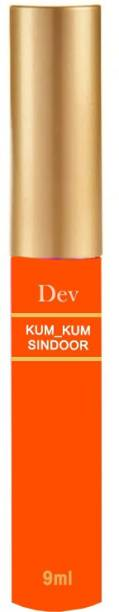 nepX Dev 100% Natural Herble Makeup Liquid Sindoor Orange with Sponge-Tip- Applicator- Long lasting Chemical free & Waterproof with Floral Pigment Orange Liquid Sindoor Pack of 1 Sindoor