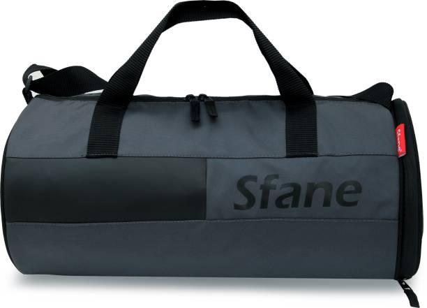 Sfane Leatherite Black Stylish Gym Bags for Men & Women Duffel Sports Bag