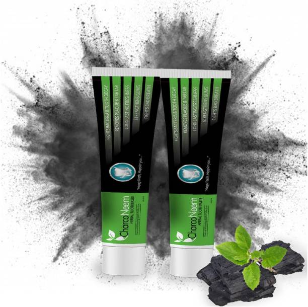 CharcoNeem Charcoal & Neem Toothpaste with Coconut Oil For Teeth Whitening Toothpaste