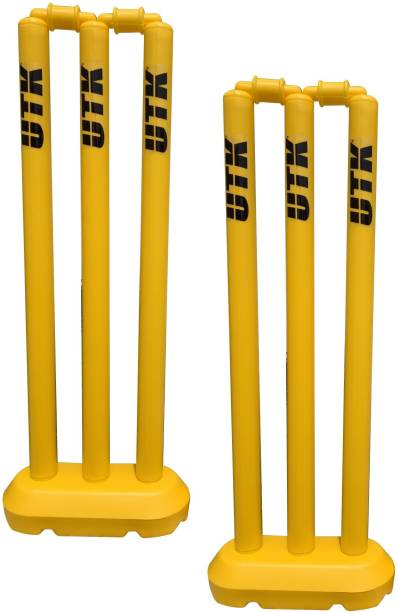 """UTK Hard Plastic Wicket Set (24 """")both sides for age group 4 to 12 yrs"""