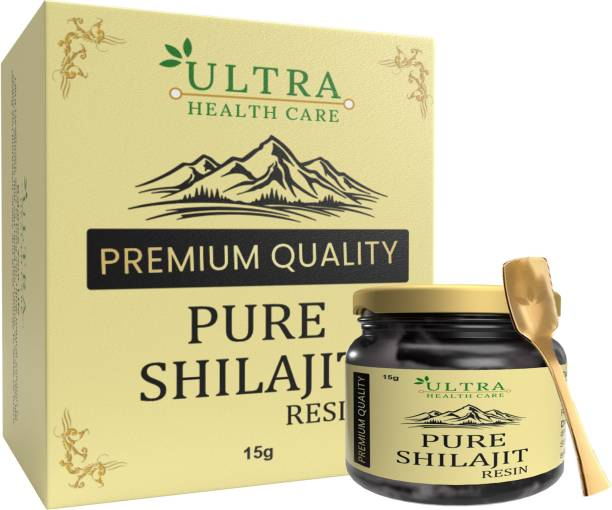 Ultra Healthcare Pure Natural Ayurvedic Shilajit/Shilajeet Resin Supports Strength, Stamina And Energy For Men & Women