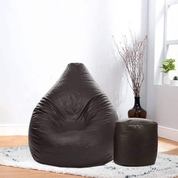 Home Space XXXL Tear Drop Bean Bag Cover  (Without Beans)