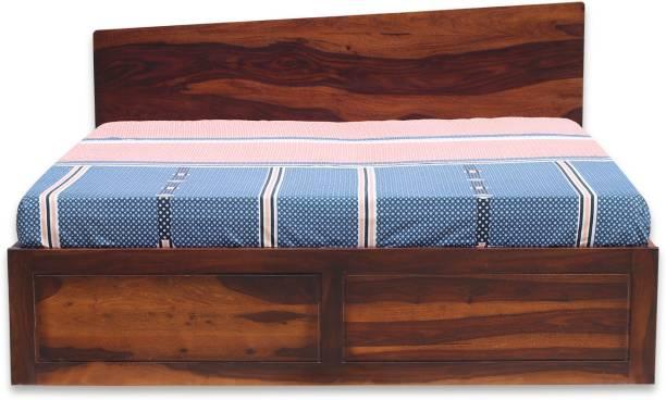 ROYAL FINISH Alfriko Solid Wood King NA Bed