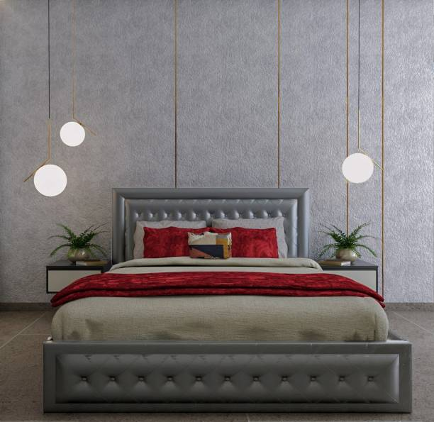 METSMITH Royal Upholstered Fine Engineered Wood King Bed