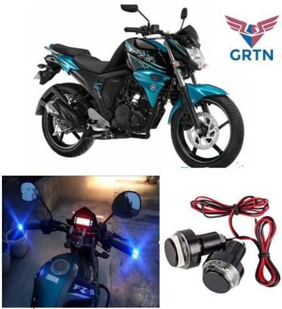 GRTN INTERNATIONAL FZS 12 LED, Handle Bar Light, Single Turn LED Indicator, Blue & White Color Bike Handlebar Weights