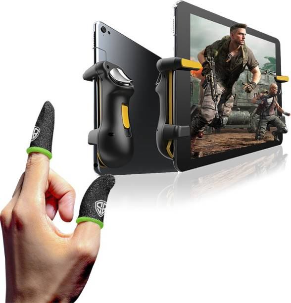 SpinBot BattleMods T10 Gaming Trigger For Tablets/iPads & Finger Sleeves For PUBG,BGMI,COD,Free Fire Combo Set