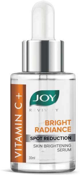 Joy Vitamin C+ Bright Radiance Spot Reduction Skin Brightening Serum | With Niacinamide+Tocopherol | 100% Vegan | Vitamin C Face Serum for Glowing Skin