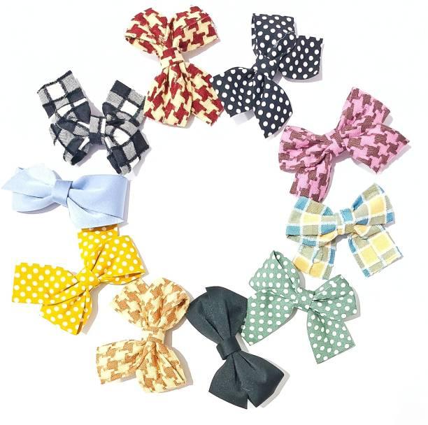 ANNA CREATIONS 12 pcs glitter bow Hair Clips Set Baby Hairpin For Kids Girls Toddler Barrettes Hair Accessories set (12) Hair Clip