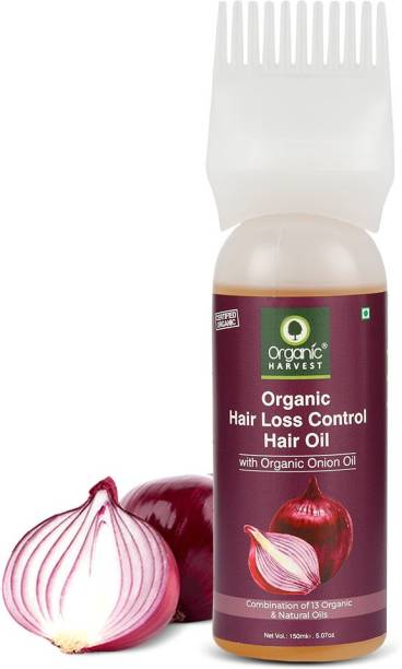 Organic Harvest Hair Loss Control Hair Oil, Infused with Organic Onion Oil and a Combination of 13 Organic Natural Oils, Reduces Hair Breakage and Prevents Thinning Hair Oil