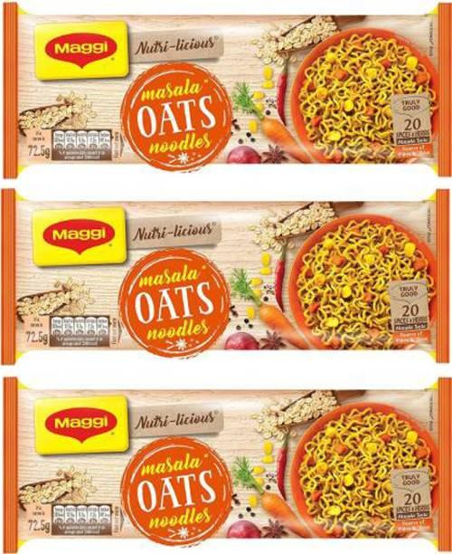 Maggi LICIOUS Oats Masala Noodles870 GRAMS (290G*3) Instant Noodles Vegetarian