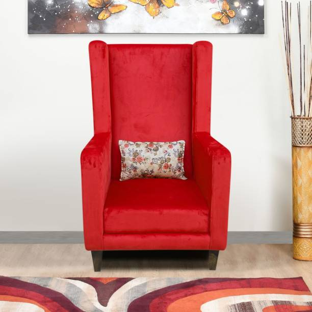 Flipkart Perfect Homes Amor Straight Rose Chair Solid Wood Living Room Chair