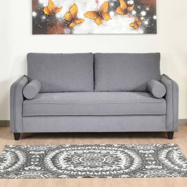 @Home by nilkamal Ryder Fabric 3 Seater  Sofa