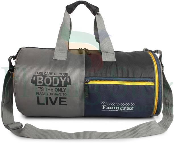 EMMCRAZ Sports gym bag duffle bag with extra shoe/towel compartment
