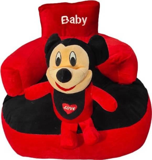 AVS Mickey Shape Soft Plush Cushion Baby Sofa Seat or Rocking Chair for Kids  - 45 cm