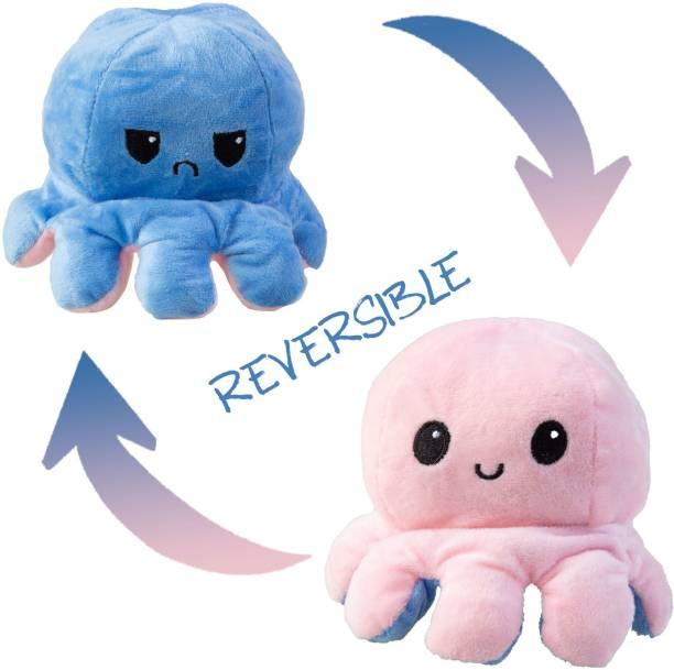 Tedstree Reversible Flip Octopus Plush Stuffed Toy For Kids  - 15 cm
