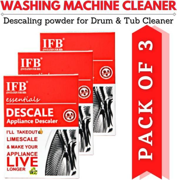 IFB(INVITATION FOR BID)® PAY-2-GET-3 Washing Machine Descaling Powder Detergent Descaler For Drum Cleaning Descale Deep Cleaner For Tub Front & Top Load Detergent Powder 300 g