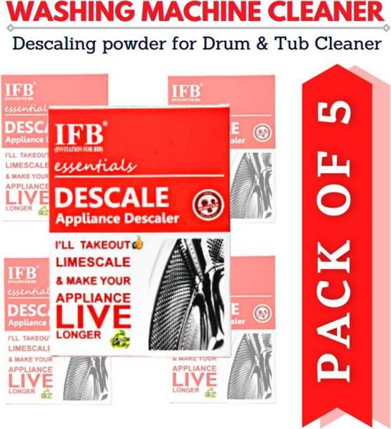 IFB(INVITATION FOR BID)® PAY-4-GET-5 Washing Machine Descaling Powder Detergent Descaler For Drum Cleaning Descale Deep Cleaner For Tub Front & Top Load Detergent Powder 500 g