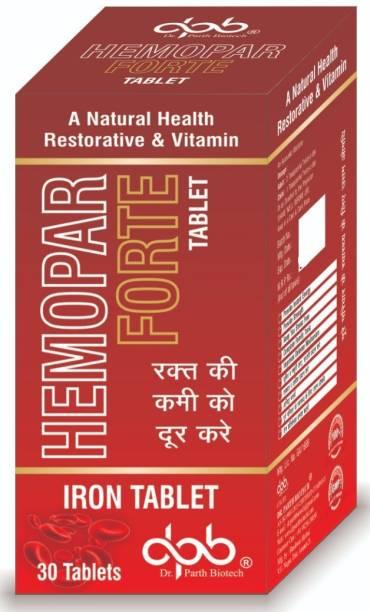 dr. parth biotech Hemopar Iron Tablet Natural Health Restorative & Vitamin Tablets