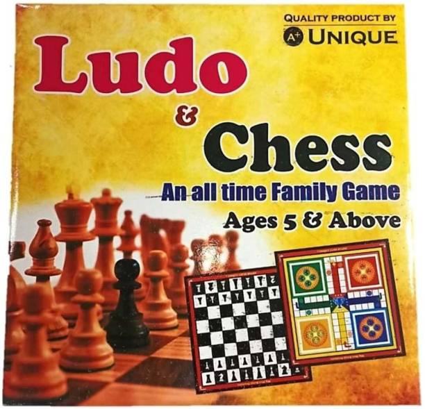 Hobs BLudo & Chess Board Multi_Color (12*12 ) Size 30.48 cm Chess Board