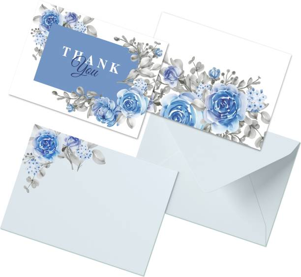 CLICKEDIN Floral Design, 24 Envelops and 24 Thank You Greeting Card