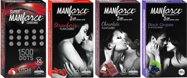 MANFORCE CONDOMS CHOCALATE, STRAWBERRY, LITCHI , BLACK GRAPS, Condom