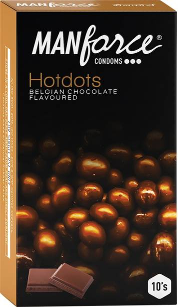 MANFORCE Premium Hotdots Belgian Chocolate Condoms with Bigger Dots Condom