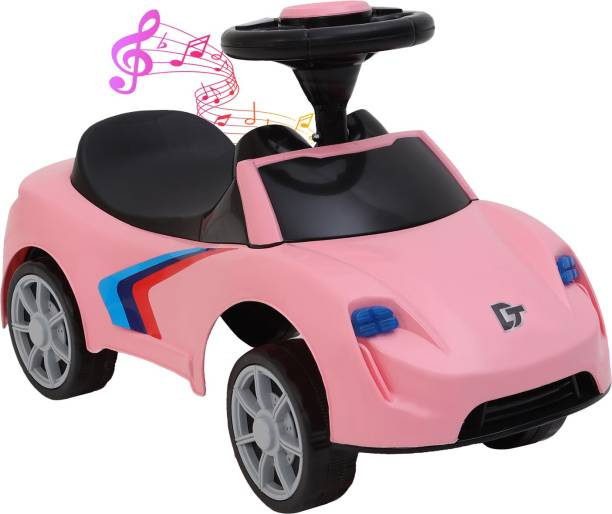 Miss & Chief Kids F1 Musical Car with Front and Rear Lights, Steering Drive, Perfect for Kids Aging 12 Months To 3 Years Car Non Battery Operated Ride On