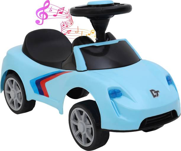 Miss & Chief Kids F1 Musical Car with Front and Rear Lights, Steering Drive, Perfect for Kids Aging 12 Months To 3 Years Car Battery Operated Ride On