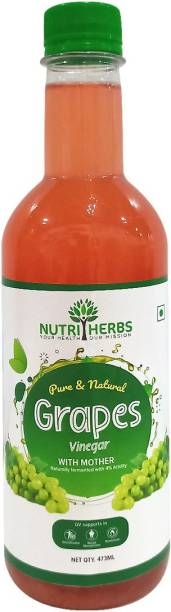 Nutriherbs Grapes Cider Vinegar with Mother Helps in Blood Purification & Body Detoxification Nutrition Drink