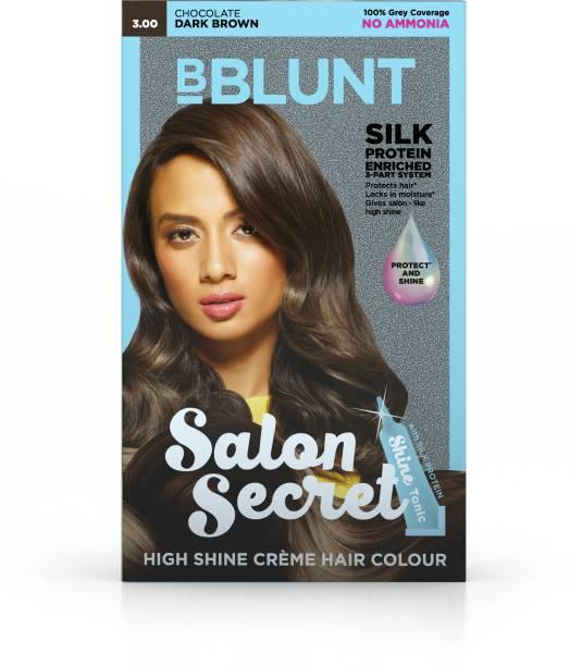 BBlunt Salon Secret High Shine Creme Hair Colour, 100g with Shine Tonic, 8ml , Dark Brown 3