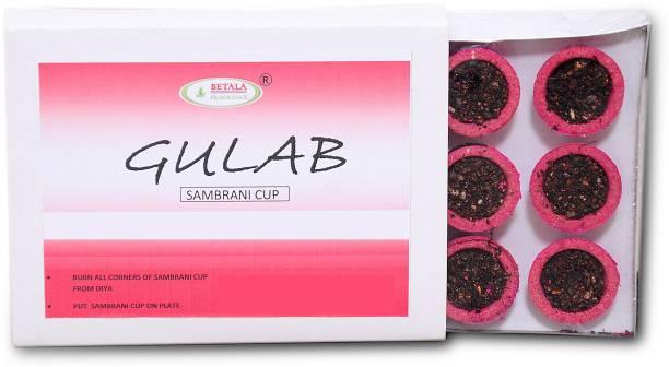 BETALA FRAGRANCE Gulab (Rose) Flavour Sambrani Dhoop Cup (Non Charcoal Dhup) Gulab (Rose) Sambrani