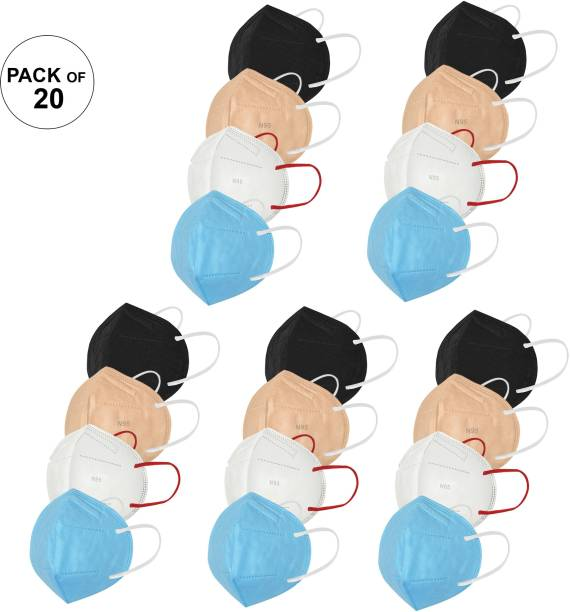 LOIS CARON FM-126 N95 MASK WITH METALLIC NOSE PIN REUSABLE ANTI-POLLUTION , ANTI-VIRUS BREATHABLE FACE MASK N95 WASHABLE ( WHITE , BLUE , BROWN , BLACK ) FOR MEN , WOMEN AND KIDS MASK , REUSABLE, WASHABLE Reusable