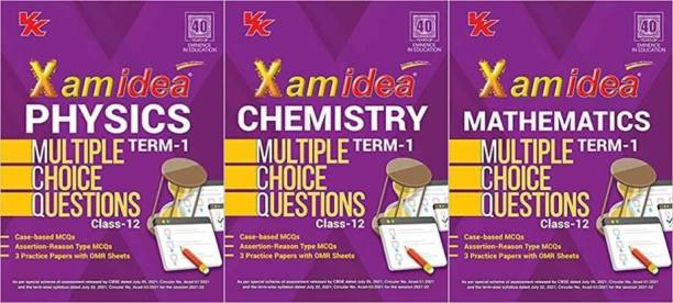 Xam Idea Physics + Chemistry + Mathematics MCQs CBSE Class 12 Book (Term I) For 2022 Exam