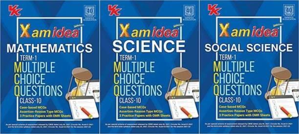 Xam Idea Mathematics + Science + Social Science MCQs CBSE Class 10 Book (For 2022 Exam)