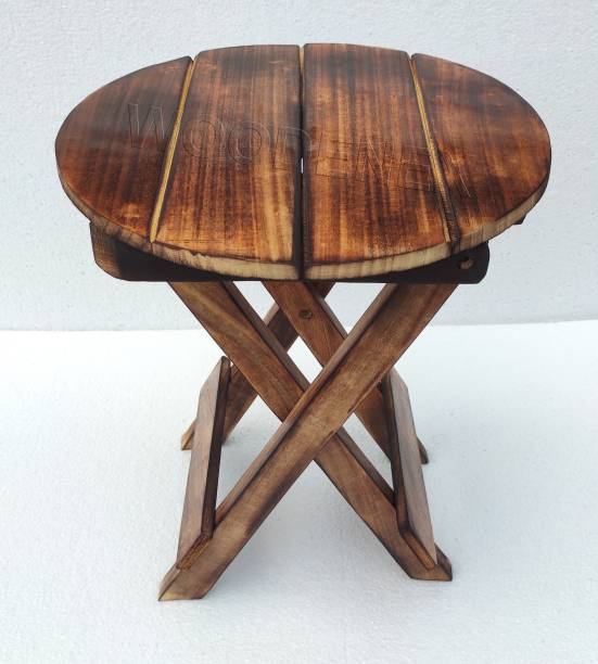 Woodenex Wooden folding side table 12 inches   Small side table for living room, garden, flower pot   Foldable kid stool Solid Wood Side Table