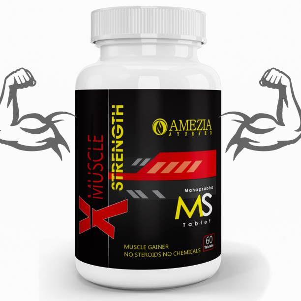 Amezia WEIGHT GAINER MUSCLE GOLD TESTOSTERONE BOOSTER, AYURVEDIC SUPPLEMENT FOR MEN