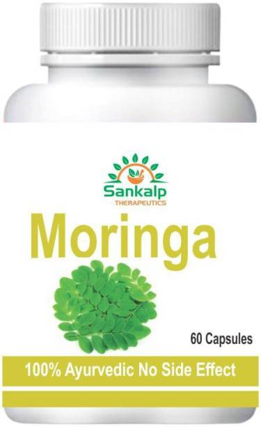 sankalp therapeutics Moringa Capsules for Used to reduce swelling, increase sex drive (as an aphrodisiac), prevent pregnancy, boost the immune system, and increase breast milk production pack of 1 ( 60 Capsules )