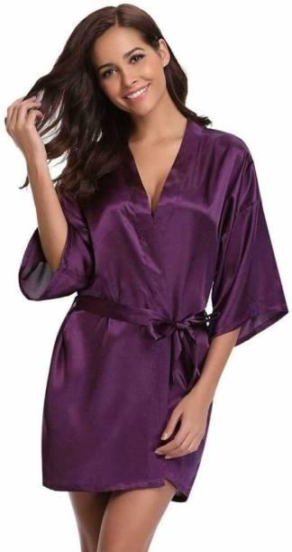 Mistic Purple Free Size Bath Robe