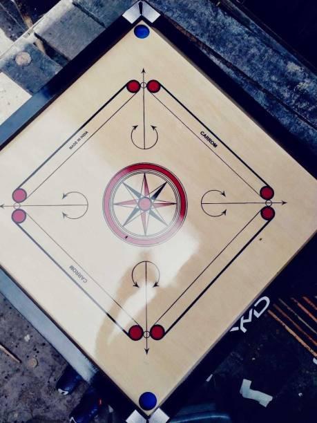 YMD [32inch] Premium Quality Smooth & Shiny Glossy Large Carrom Board 81.28 cm Carrom Board