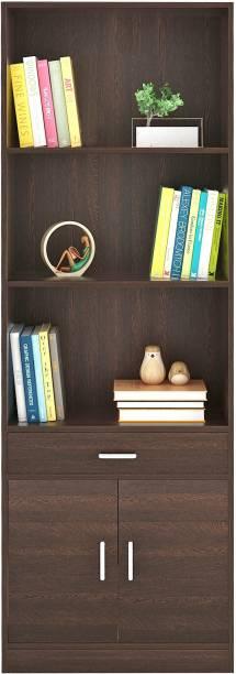 BLUEWUD Seonn Engineered Wood Open Book Shelf