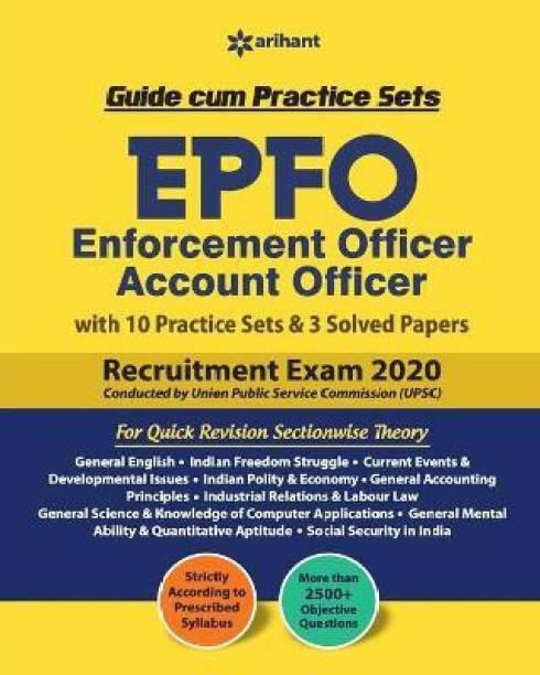Epfo (Enforcement Offier) Account Officer Guide Cum Practice Sets 2020