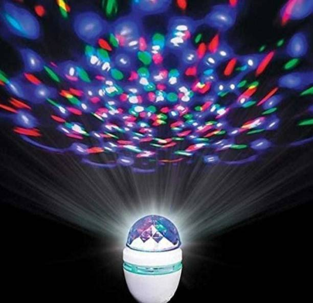 NTE DJ 360 degree rotating led stage light crystal bulb magic disco light,led lamp for party/home/diwali decoration/dance party Single Disco Ball
