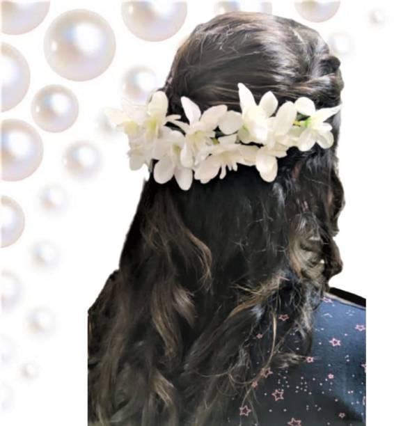 DeeKay WHITE FLORA FOR HAIR DECORATION Hair Chain