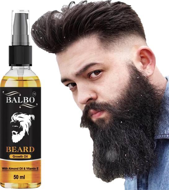 BALBO Beard Growth Oil, Mooch Oil for strong and healthy beard growth Hair Oil (50 ml) Hair Oil