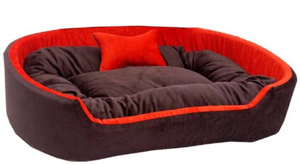 Little Smile Ultra Soft Ethinic Designer Bed for Dog and Cat Export Quality,Reversible Super L Pet Bed