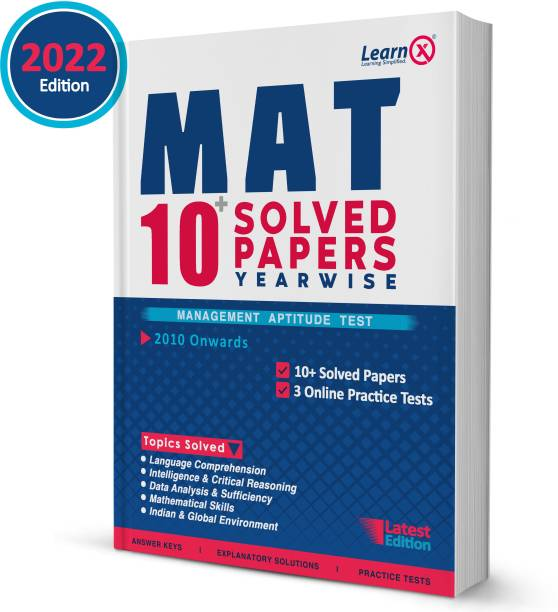 MAT 10+ Solved Papers (Year-Wise) With 3 Online Practice Tests
